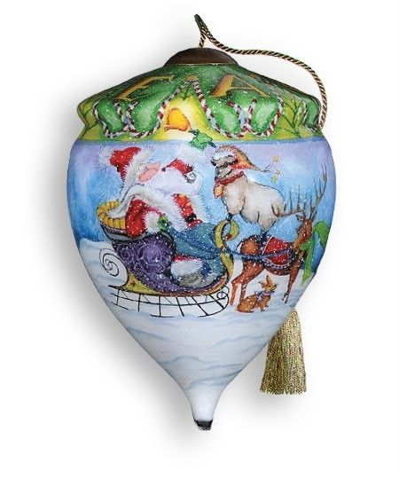Ne Qwa Reverse Painted Glass Ornament Gifts of Peace