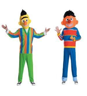 Sesame Street Bert & Ernie Adult Couples Costume 42 46